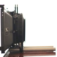"Chrosziel matte box 15mm bar mount. 1 rotatable 4""x 4"" tray, 1 4"" x 5.65"" PV tray"